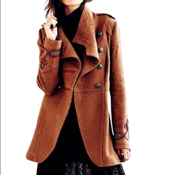 Free People Jackets & Blazers - Free People Wool Military Pea Coat